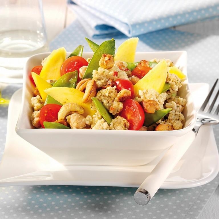 TafeltjeDekje salade met mango